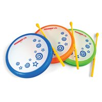 Hohner Kids Hand Drum with Mallet, Assorted Colors