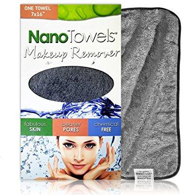 nano towel makeup remover face cloth. remove cosmetics fast and chemical free. wipes away facial dirt and oil like an eraser. great for sensitive skin, acne, exfoliating, mascara, etc. 7 x