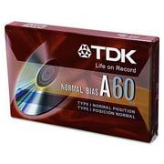 TDK 20090 Standard Grade Audio & Dictation Cassette, Normal Bias, 60 Minutes (30 x 2)