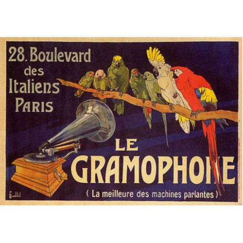 "Trademark Fine Art ""Le Gramophone"" Canvas Art"