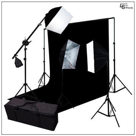 High Wattage Boom Arm Backdrop Support System Kit With