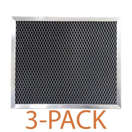 Supco RCP1008 Range Hood Filter (3-Pack) Charcoal filter specifically designed to fit GE, and Broan range hoods and microwave ovens.