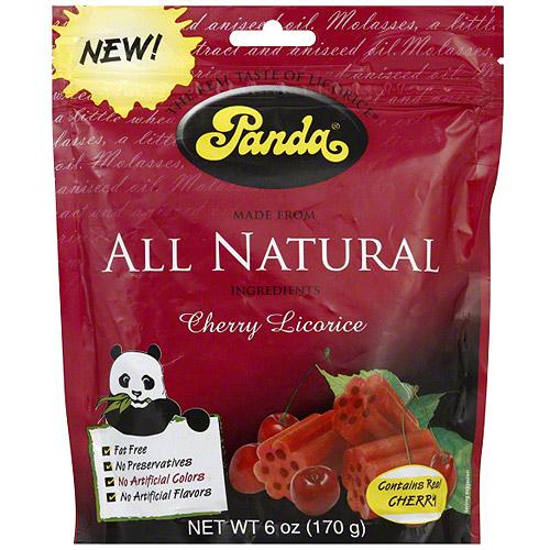 Panda Cherry Licorice, 6 oz (Pack of 12)