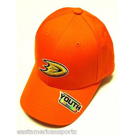 - Anaheim Mighty Ducks NHL Reebok YOUTH 4-7 Orange w/ Logo Hat Cap Structured Kids