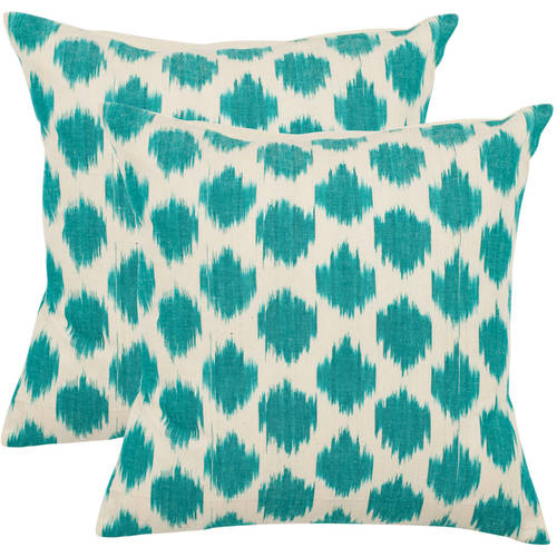 Safavieh Polka Dots Aqua Pillow, Set of 2
