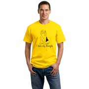 I Love my Beagle Beagle Love Dog Owner Parent Cute Snoopy Fun Unisex T-shirt by Ann Arbor T-shirt Company