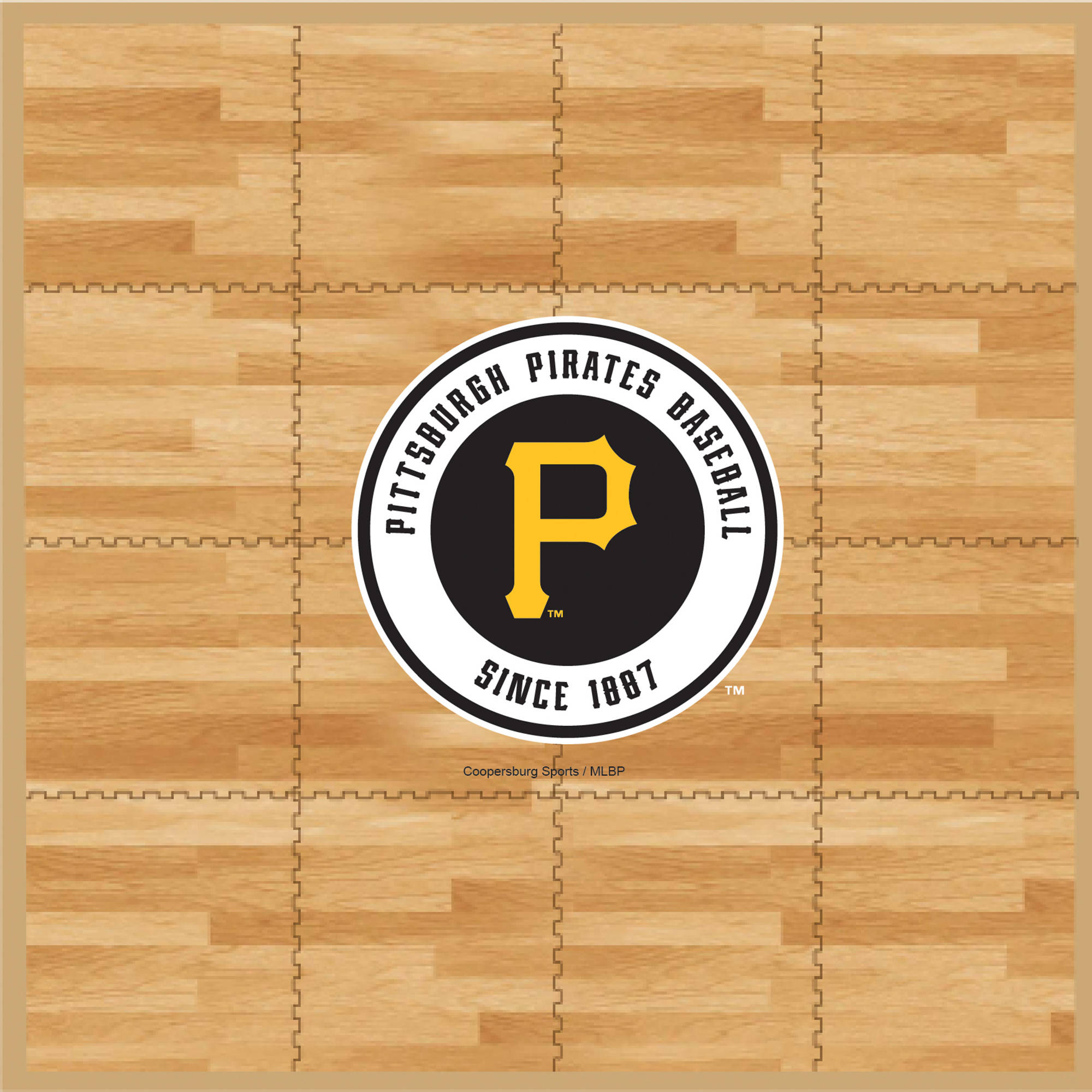 MLB Pittsburgh Pirates Portable Foam Puzzle Tailgate Floor Mat by