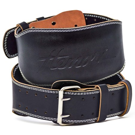 Hemori Genuine Cowhide Leather Pro Weight Lifting Belt for Men and