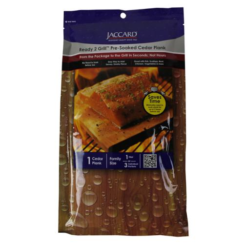 Jaccard Ready 2 Grill Pre-Soaked Cedar Plank for 1 Filet or 3 Portions | 201406