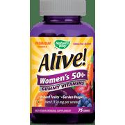 Alive! Women's 50+ Gummy Vitamins Multivitamin Supplements 75 Count