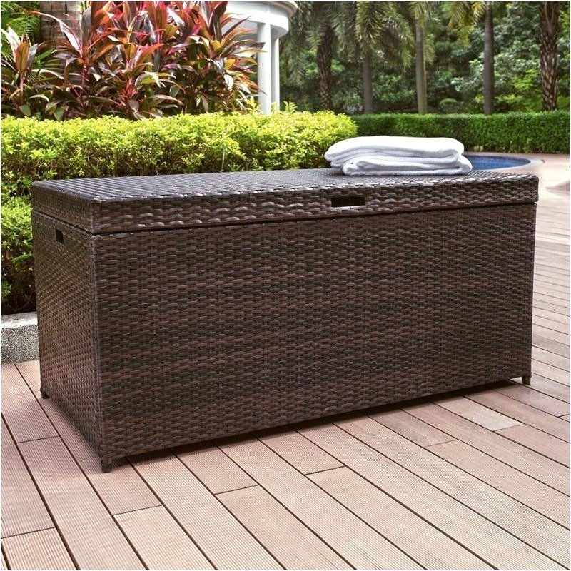 Pemberly Row Outdoor Wicker Storage Bin by
