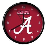 Alabama Crimson Tide Black Rim Basic Clock - No Size