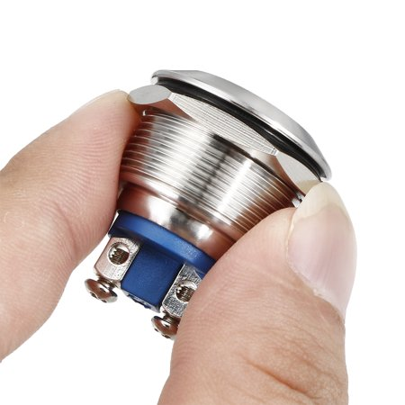 Unique Bargains J22-150A DC12V 22mm Thread Dia Metal Shell Concove Head Red LED Indicator Light - image 1 de 5