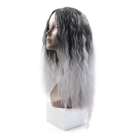 "25.2"" Length Synthetic Brazilian Women Loose Wavy Hair Extension Wigs Light Gray - image 5 de 5"
