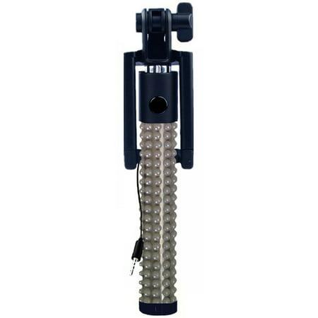 KTA Pearls Wired Mini Selfie Stick With Folding Bracket