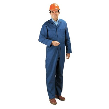 Coverall, Chest 42In., Blue
