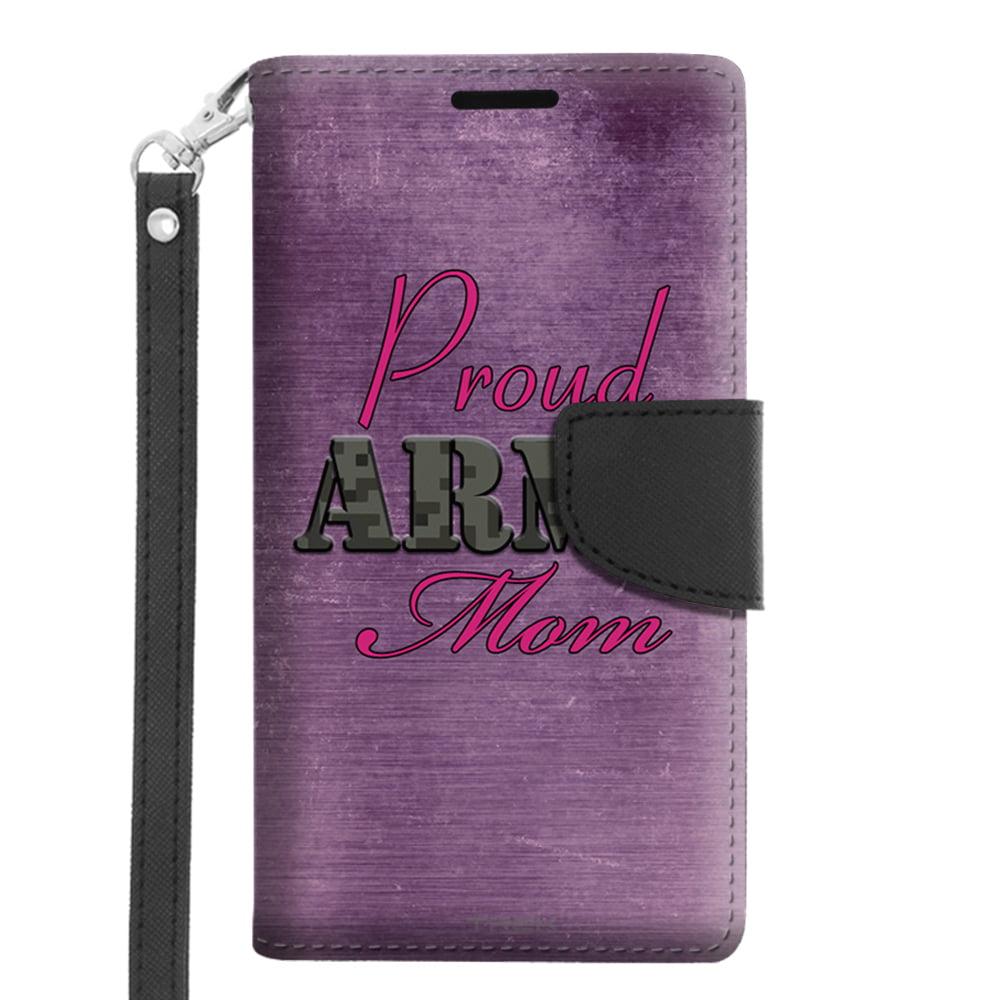 Microsoft Lumia 640 Wallet Case - Proud Army Mom Purple