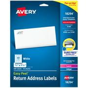 Avery Easy Peel Address Labels, 2/3