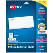 "Avery Easy Peel Address Labels, 2/3"" x 1-3/4"", 600 Labels (18294)"