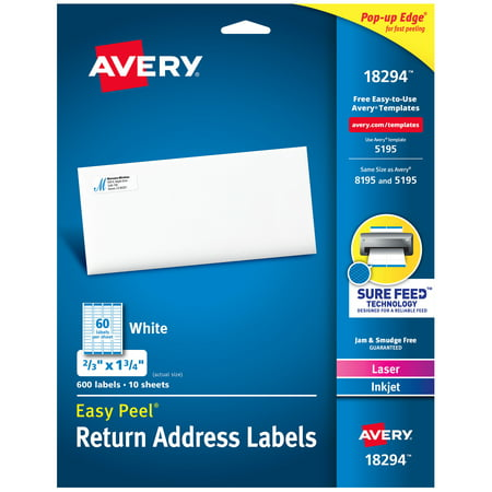 - Avery Easy Peel Address Labels, 2/3