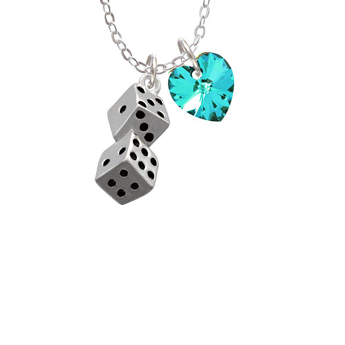 """Pair of Dice  - Year 2016 Sophia Necklace, 18""""+1"""""""