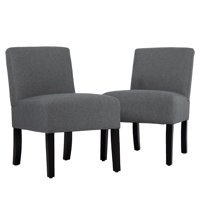 Product Image Living Room Chairs Upholstered Accent Chair Sofa Club Side Fabric Armless Set Of