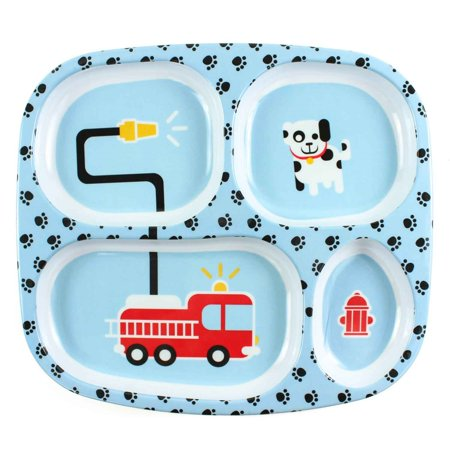 Bumkins Kids Divided Tray Plate