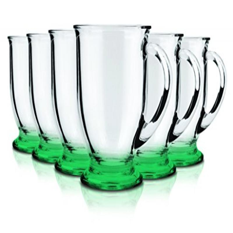 Anchor Hocking Café Glass Coffee Mugs, 16 oz (Set of 6)