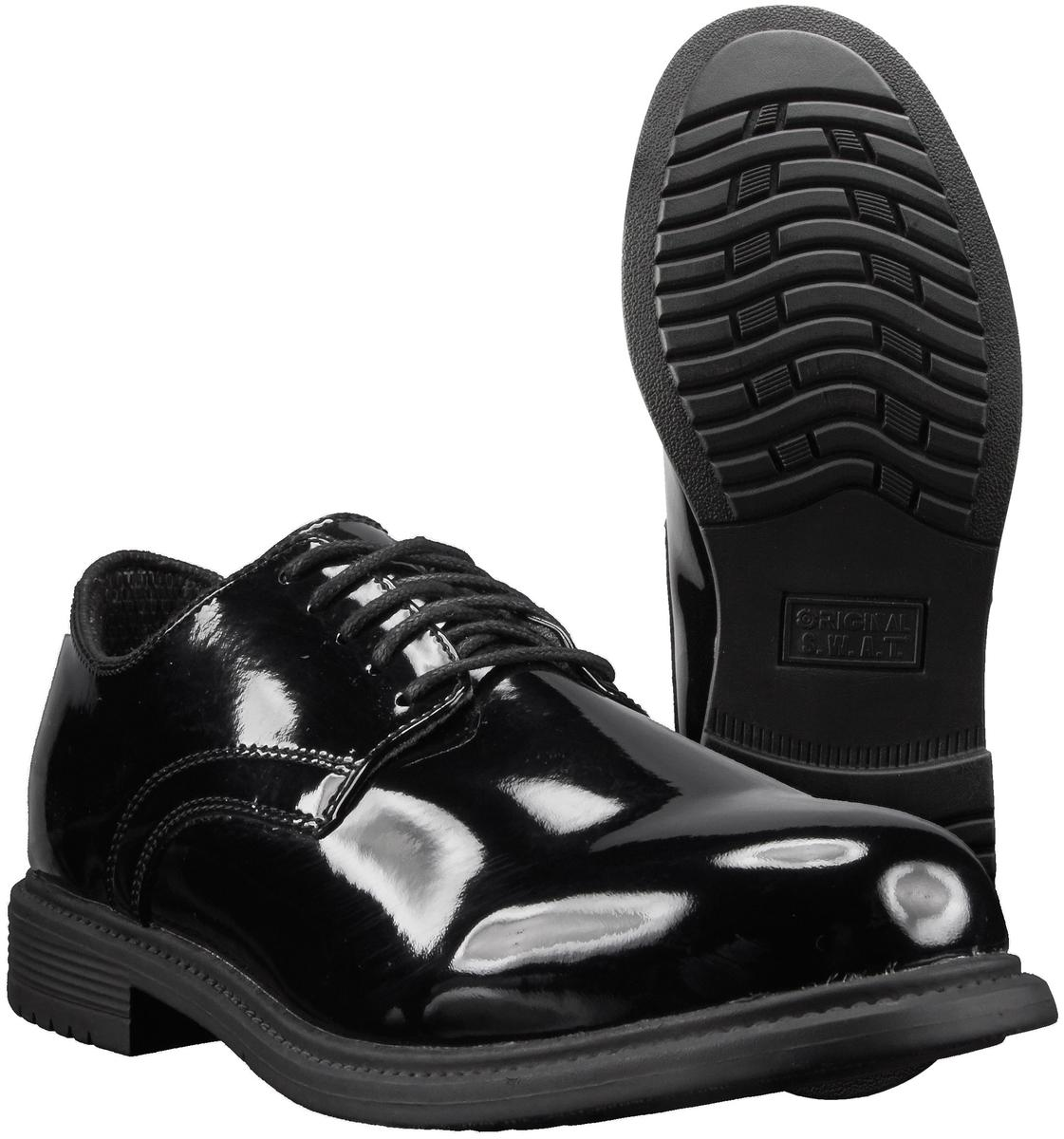 Original SWAT 118001 Men's Dress Oxford, Uniform Shoe, Black