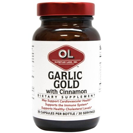 Olympian Labs supplément d'ail d'or alimentaire à la cannelle, 30 count