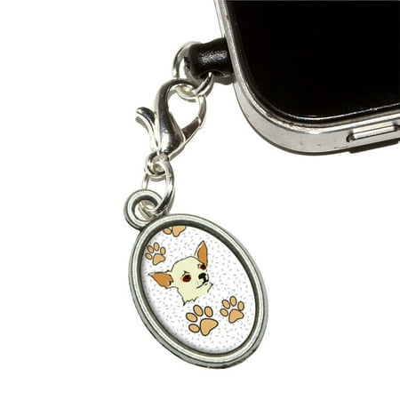 Chihuahua of Awesomeness Oval Mobile Phone Charm