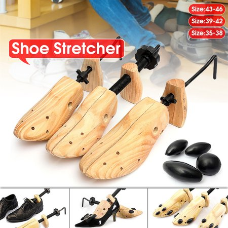 1PC Adult Men Women Wooden Adjustable 2-Way Professional Shoe Stretcher Tree Expander Shaper Size 35-46 Large Medium Small for Dress & Casual Shoes ()