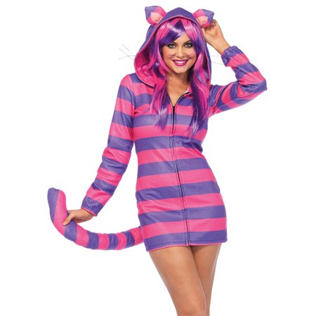 Morris Costumes Women's Cheshire Cozy Complete Outfit Purple/Pink - Pink Ladies Costume From Grease