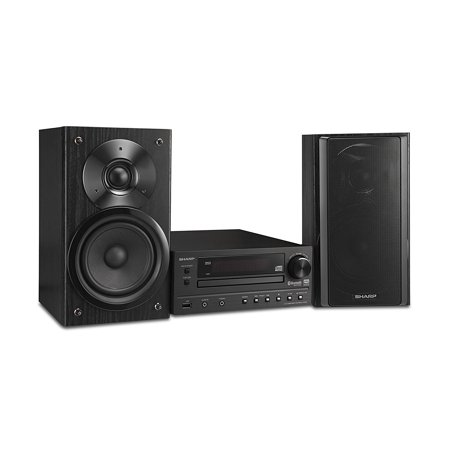 Sharp Bluetooth Hi-Fi Home Audio Stereo Sound System With Single Disc Cd Player