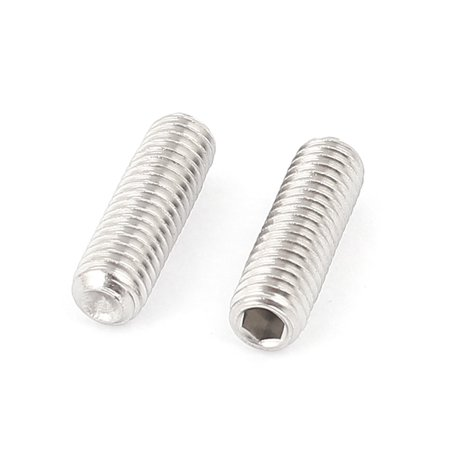 M6x20mm Stainless Steel Hex Socket Set Cap Point Grub Screws Silver Tone 100Pcs - image 1 of 2