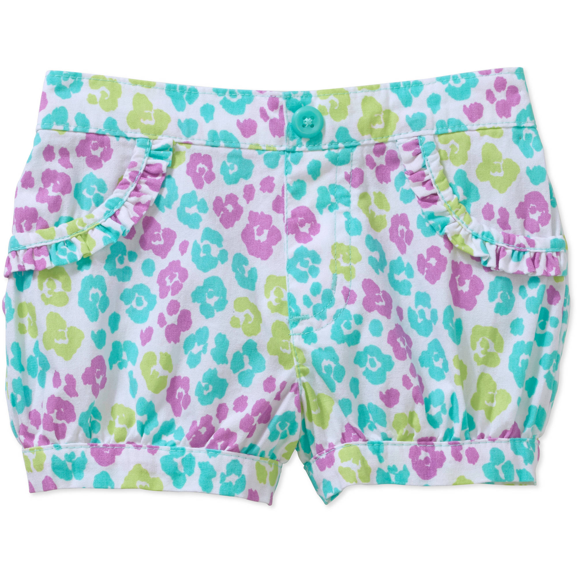 Garanimals Newborn Baby Girl Print Woven Bubble Shorts