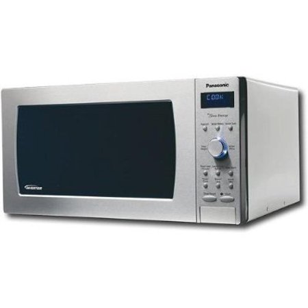 panasonic nn sd987sa 1250 watts 2 2 cu ft full size microwave stainless steel. Black Bedroom Furniture Sets. Home Design Ideas