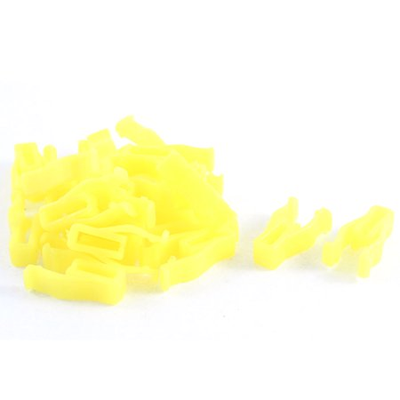20 Pcs 21mm Long 9mm Hole Plastic Rivet Trim Fastener Moulding Clips