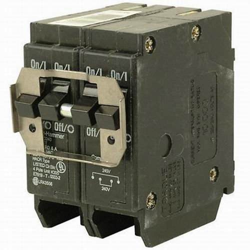 Eaton BR420 Plug-On Mount Type BR Circuit Breaker 4-Pole 20 Amp 120 240 Volt AC by Cutler Hammer