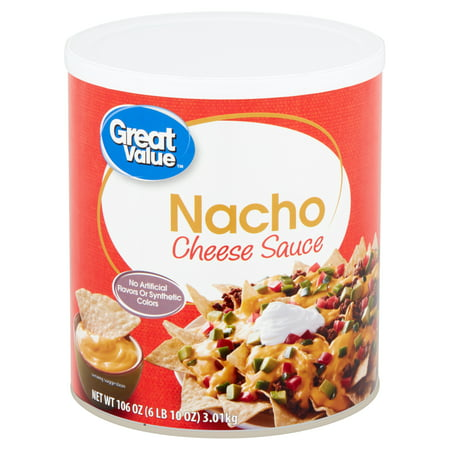 Great Value Nacho Cheese Sauce, 106 oz