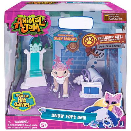 Animal Jam Snow Fort Den Playset Fort Dodge Animal