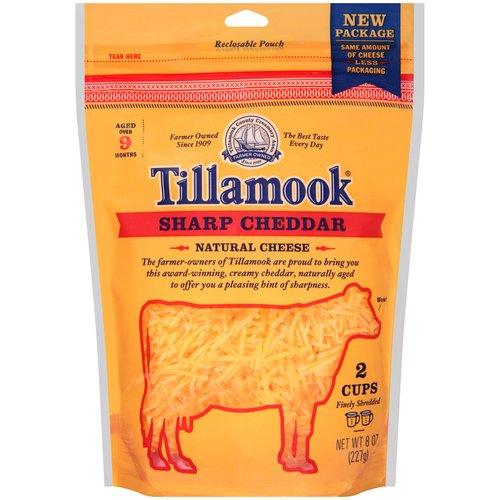 Tillamook Shredded Sharp Cheddar Cheese, 8 oz