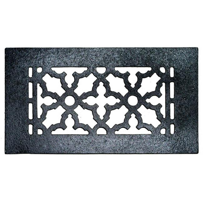 Acorn GR5BG 10'' x 5-1/2'' Cast Iron Decorative Grille - Black