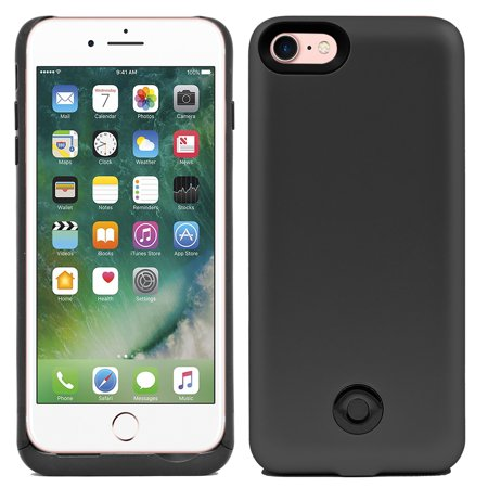 IPhone 8 / IPhone 7 Slim External Rechargeable Protective Portable Charging External Battery Backup Case Charger Power Bank 3800mAh (Rechargeable Battery Case S5)