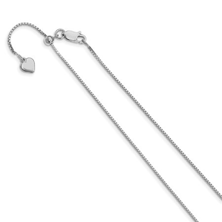 925 Sterling Silver .95mm Adjustable Link Box Chain Necklace 22 Inch Pendant Charm Fine Jewelry Ideal Gifts For Women Gift Set From Heart