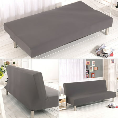 Armless Sofa Covers Stretch Fabric Slipcovers Folding Bed For Living Room Moving Furniture Protector