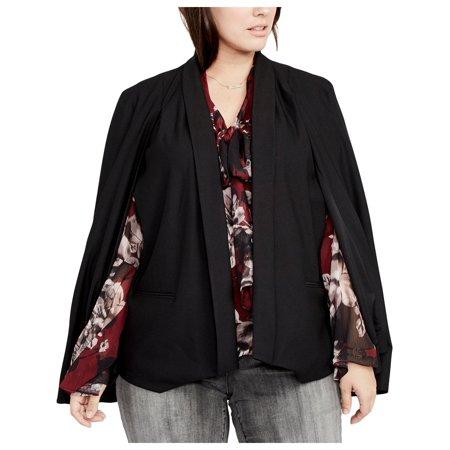 Rachel Rachel Roy Womens Plus Knit Professional Tuxedo Blazer