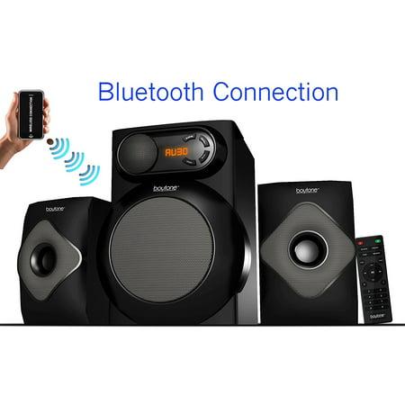 Boytone BT220F Black Bluetooth Multimedia Speaker System - 40 Watt
