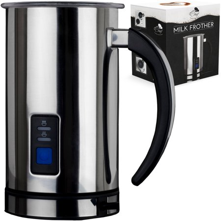 Milk Frother Steamer Electric Warmer - Electric Milk Frother and Warmer Machine Milk Foamer Heater Steamer Coffee Hot Chocolate Latte Frother Stainless Steel Automatic Frothing Pitcher Hot Cold Milk