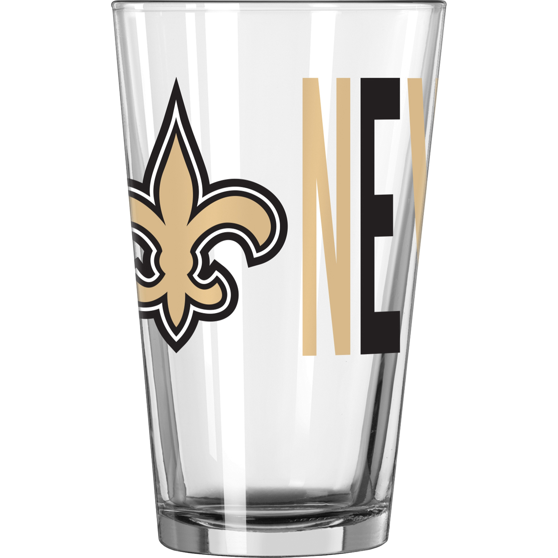 NFL New Orleans Saints 16 oz. Overtime Pint Glass